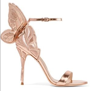 Sophia Webster Rose Gold winged heel.